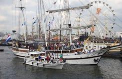 Żagiel łodzi żagiel Amsterdam 2015 Obrazy Royalty Free
