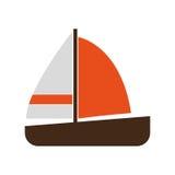Żagiel łodzi ikona royalty ilustracja