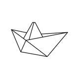 Żagiel łodzi origami royalty ilustracja