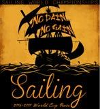 Żagiel łodzi wektorowego trójnika graficzny projekt royalty ilustracja