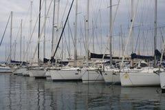 Żagiel łodzie w schronieniu święty Tropez Obraz Royalty Free