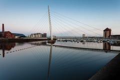 Żagiel bridżowy Swansea Zdjęcia Stock