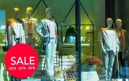 ŻAGIEL, butik mody gablota wystawowa Obraz Stock