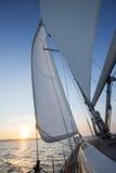 Żagiel Luksusowy jacht W otwartym morzu Obraz Stock