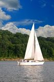 żagiel łodzi Fotografia Royalty Free
