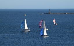 Żagiel łodzie w rasie Fotografia Royalty Free