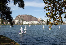 Żagiel łodzie w Rio De Janeiro Obraz Royalty Free