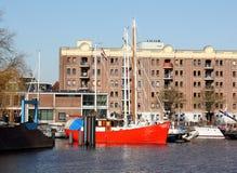 Żagiel łodzie w schronieniu Groningen Zdjęcia Royalty Free