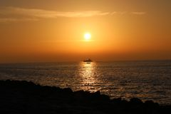 Żagiel pod słońcem Zdjęcie Royalty Free