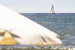 Żagiel w mediterranian morzu Obraz Stock