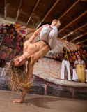 Agile Capoeira Expert Stock Photo