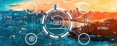 Free Agile Concept With The Bay Bridge In San Francisco Stock Photography - 170535952