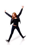 Agile funky young woman Royalty Free Stock Images