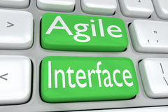 Agile Interface concept Royalty Free Stock Photography