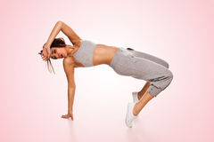 Agile woman hip hop dancer Stock Image