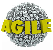 Agile Word 3d Letters Sphere Change Adapt Royalty Free Stock Photo