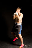 Agile young boxer on the move in the ring Royalty Free Stock Images