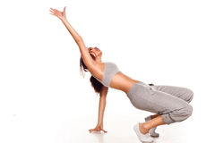 Agile young female hip hop dancer Royalty Free Stock Photo