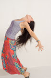 Agile young woman arching her back Royalty Free Stock Photography