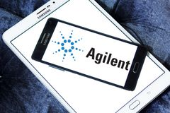 Agilent Technologies logo. Logo of Agilent Technologies on samsung mobile . Agilent Technologies is an American public research, development and manufacturing Royalty Free Stock Photography