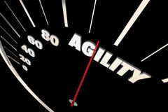 Agility Adaptive Change Ability Speedometer Royalty Free Stock Images
