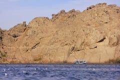 Agilkia wyspa, Jeziorny Nasser Fotografia Royalty Free