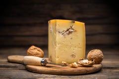 Aging artisan cheese Royalty Free Stock Photos