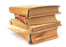 Aging book. On white background Royalty Free Stock Images