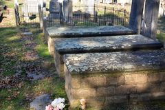 Aging burial vaults Royalty Free Stock Images