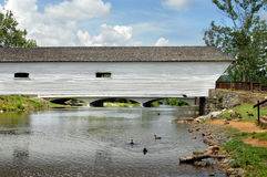 Aging Covered Bridge Stock Image