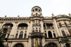 An aging, decaying, ex-colonial tenement block in Kolkata Royalty Free Stock Photos