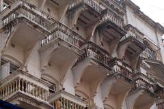 An aging, decaying, ex-colonial tenement block in Kolkata Royalty Free Stock Image