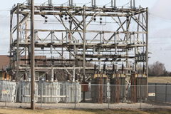 Aging Electric Substation. Aging Electrical Substation located in a small town in Iowa Stock Photography