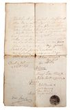 Aging manuscript Royalty Free Stock Photo