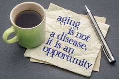 Aging is not a disease Stock Photography
