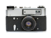 Aging photo camera Royalty Free Stock Photo