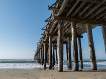 Aging pier structure Royalty Free Stock Images