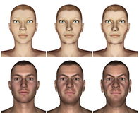 Aging process - 3D render Stock Photo