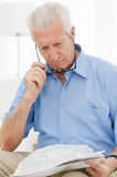 Aging process eyesight troubles Stock Photos