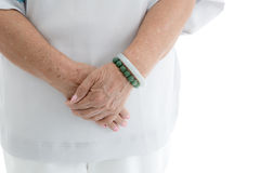 Aging process - old senior woman hands Royalty Free Stock Photos