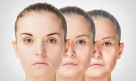 Aging Process, Rejuvenation Anti-aging Skin Procedures Stock Photo