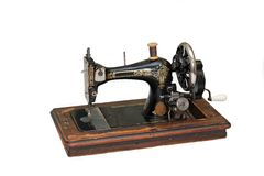 Aging sewing machine Royalty Free Stock Photo