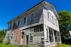 Aging Store Building in Mainesburg PA Royalty Free Stock Image