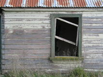Aging window #2. Window in a 100 year old farm house, long derelict royalty free stock photography