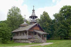 Aging wooden chapel in village Royalty Free Stock Photos