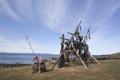 aginst piękny błękitny dorsza Iceland nieba sztokfisz Obrazy Stock