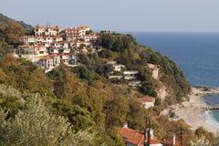 Agio Ioannis Dorf bei Pelion, Griechenland Lizenzfreies Stockfoto