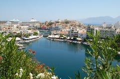 Agio's Nikolaos, Kreta Royalty-vrije Stock Afbeeldingen