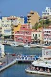 Agio's Nikolaos, Kreta, Griekenland Stock Foto's