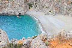 Agiofaraggo strand Arkivbild